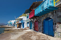 Small fishermen village in Greece Royalty Free Stock Image