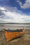 Small Fishing Boat. Moored on the River Lune Royalty Free Stock Photos