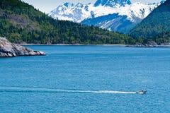 Small Fishing Boat in Alaska Royalty Free Stock Photography