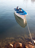 Small fishing boat anchored in Cabo San Lucas marina in Baja Sur Mexico Royalty Free Stock Image
