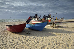 Small fishing boat, on the beach, Royalty Free Stock Photo
