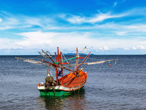 Small fishing boat on daylight Royalty Free Stock Photo