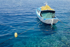 Small fishing boat in Greece, Europe Stock Photos