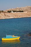 Small fishing boat, Halki Royalty Free Stock Photo