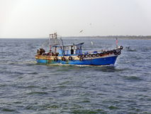 Small Fishing Boat in Kerala Stock Image