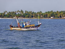 Small Fishing Boat in Kerala Royalty Free Stock Images
