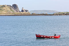 A small fishing boat off Howth harbour in Ireland Royalty Free Stock Photos