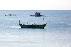 Small fishing boat, Phu Quoc island in Vietnam. Stock Images