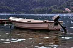 Fihing boat on the sea. Small fishing boat on the sea Royalty Free Stock Photos