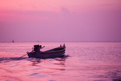 small fishing boat in the sea Stock Photography