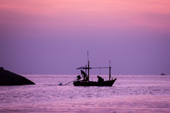 small fishing boat in the sea Royalty Free Stock Image
