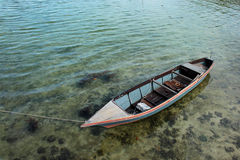 Small Fishing Boat. On The Sea Water Stock Images