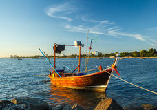 Small fishing boat in thailand Royalty Free Stock Photography