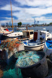 Small fishing boats Stock Image