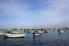 SMALL FISHING BOATS Stock Photo