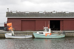 Small Fishing Boats Alongside the Quay Stock Photography