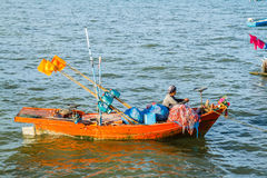 Small fishing boats on the beach Royalty Free Stock Photography