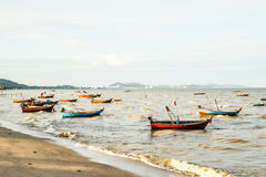 Small fishing boats on the beach Stock Image