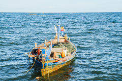 Small fishing boats on the beach Stock Photography