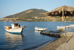 Small fishing boats in Greece Royalty Free Stock Image