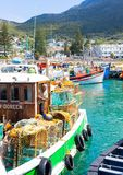 Small Fishing Boats in Kalk Bay Harbour royalty free stock photography