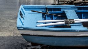 Small fishing boats moored in port royalty free stock photos
