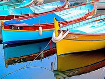 Small fishing boats Stock Photos