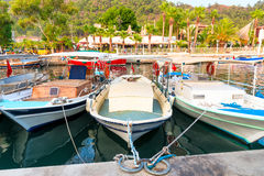Small fishing boats in the port Royalty Free Stock Photos
