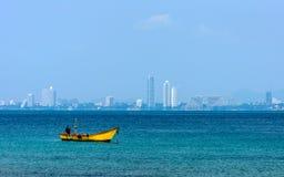 Small fishing boats on the sea Royalty Free Stock Photo