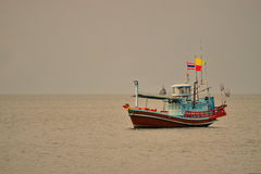 Small fishing boats in the sea Stock Image