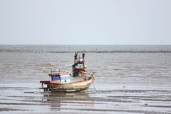 Small fishing boats on the Seashore. Royalty Free Stock Photo