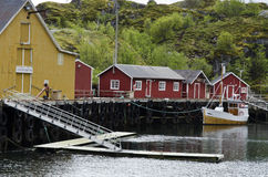Small fishing community Stock Photo