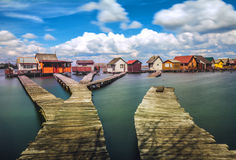 Small fishing cottages Stock Photography