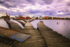 Small fishing cottages Stock Photo