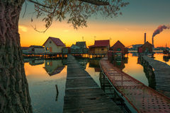 Small fishing cottages Stock Photos