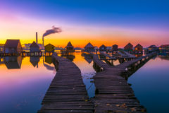 Small fishing cottages Royalty Free Stock Photos