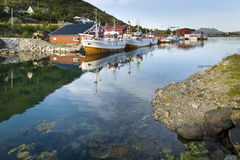 Small fishing harbor on Lofoten Islands Stock Image