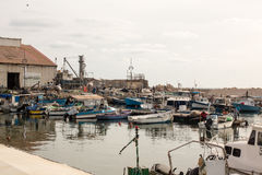 Small fishing harbor in the Old Jaffa port, Mediterranean Stock Photography