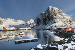 Free Small Fishing Harbor On Hamnoy Island During Winter Time, Lofote Royalty Free Stock Photos - 73676158