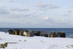 Small fishing huts.JH Royalty Free Stock Photo