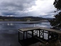 Small Fishing Pier, Huon Valley, Tasmania Stock Photography