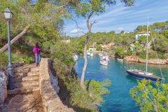 Small fishing port in Cala Figuera, Santanyi, Mallorca, Spain. Small fishing port in Cala Figuera, Santanyi, Mallorca, Balearic island, Spain Royalty Free Stock Image