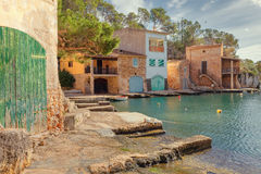 Small fishing port in Cala Figuera, Santanyi, Mallorca, Spain. Small fishing port in Cala Figuera, Santanyi, Mallorca, Balearic island, Spain Stock Photography