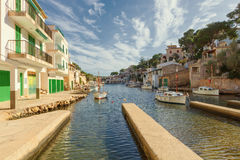 Small fishing port in Cala Figuera, Santanyi, Mallorca, Spain. Small fishing port in Cala Figuera, Santanyi, Mallorca, Balearic island, Spain Stock Image