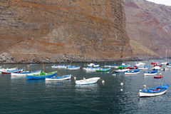Small fishing port on Gomera island, Spain Stock Photo