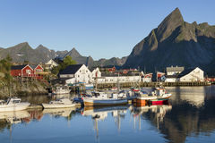 Small fishing port in the Hamnoy, Lofoten Islands, Norway Stock Photos
