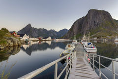 A small fishing port in the Hamnoy, Lofoten Islands Stock Photography