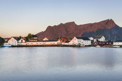A small fishing port in the Hamnoy, Lofoten Islands stock photos