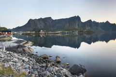 A small fishing port in the Hamnoy, Norway Stock Image