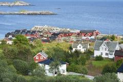 Small fishing port on Lofoten Islands Royalty Free Stock Photos